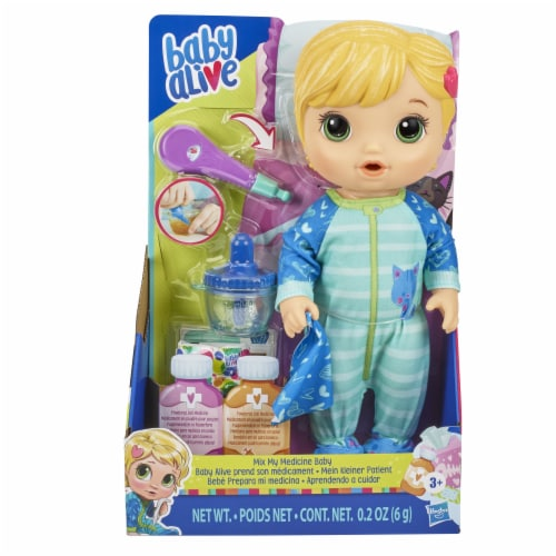 Hasbro Baby Alive Mix My Medicine Baby Doll Perspective: front