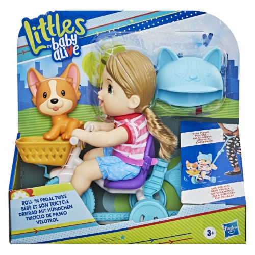 Hasbro Baby Alive Littles Roll 'n Pedal Trike Doll Perspective: front