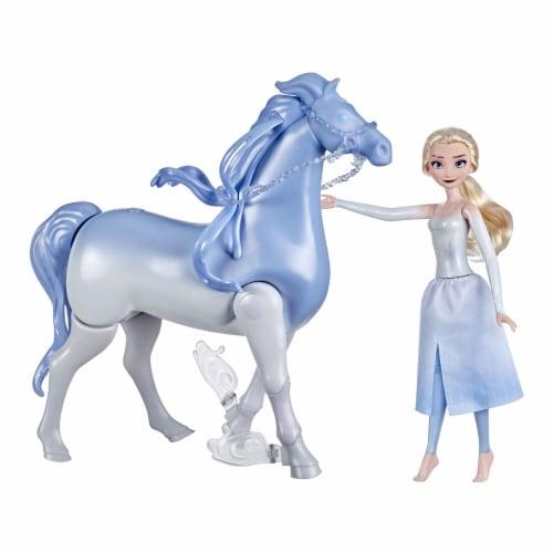 Hasbro Disney's Frozen 2 Elsa and Swim and Walk Nokk Perspective: front