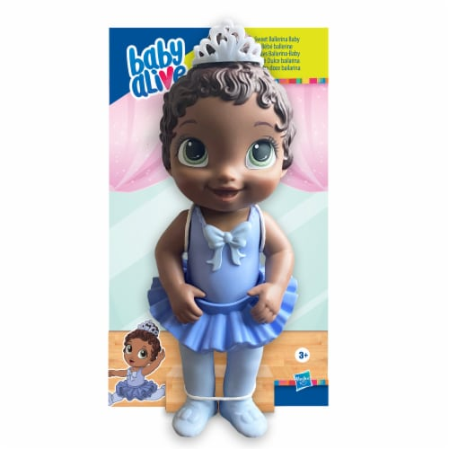 Hasbro Baby Alive Sweet Ballerina Brown Hair Baby Doll - Blue Perspective: front