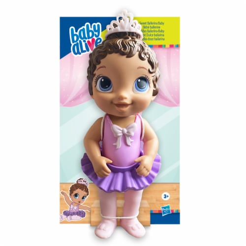 Hasbro Baby Alive Sweet Ballerina Brown Hair Baby Doll - Purple Perspective: front