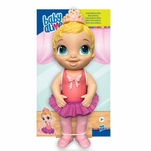 Hasbro Baby Alive Sweet Ballerina Blonde Hair Baby Doll - Pink Perspective: front