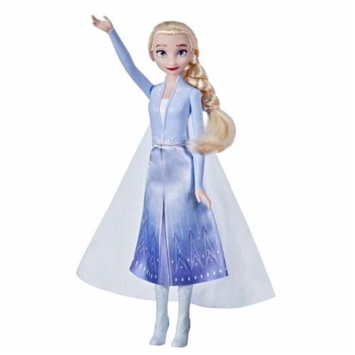 Hasbro Disney's Frozen 2 Elsa Frozen Shimmer Doll Perspective: front