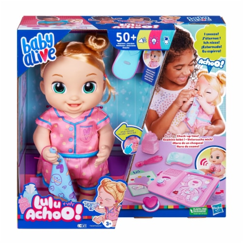 Hasbro Baby Alive Lulu Achoo Blonde Doll Perspective: front