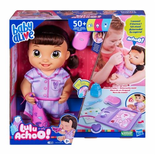 Hasbro Baby Alive Lulu Achoo Brunette Doll Perspective: front