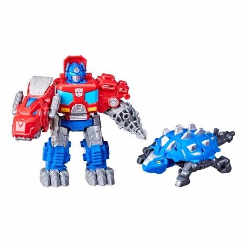 Hasbro Transformers Dinobot Adventures Optimus Prime Figures Perspective: front