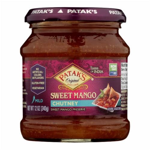 Pataks® Sweet Mango Mild Chutney Perspective: front