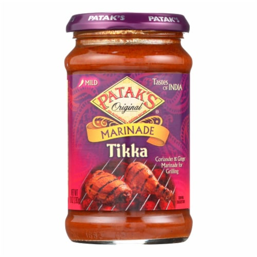 Pataks Curry Paste - Concentrated - Tikka Masala - Medium - 10 oz - case of 6 Perspective: front
