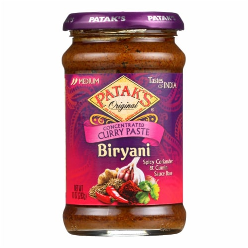 Patak's Biryani Spicy Coriander & Cumin Medium Concentrated Curry Paste Perspective: front