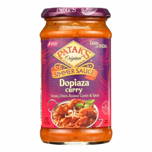 Patak's® Mild Dopiaza Curry Indian Simmer Sauce Perspective: front