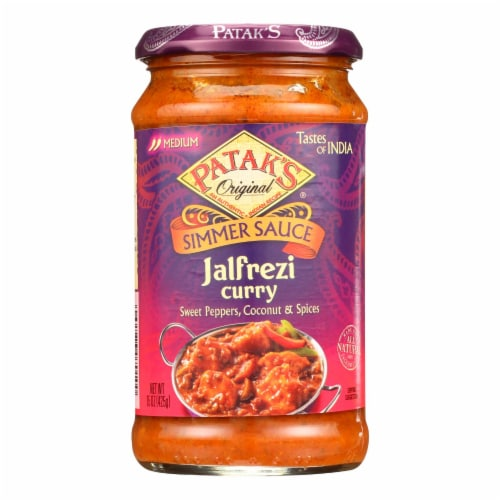 Pataks Simmer Sauce - Jalfrezi Curry - Medium - 15 oz - case of 6 Perspective: front