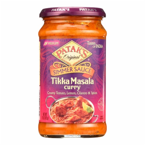 Pataks Simmer Sauce - Tikka Masala Curry - Medium - 15 oz - case of 6 Perspective: front