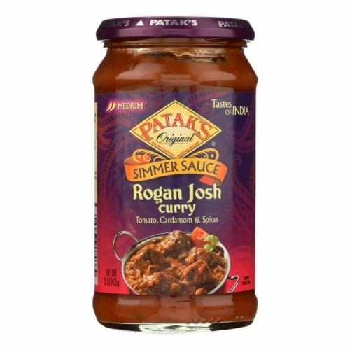 Patak's® Medium Rogan Josh Curry Indian Simmer Sauce Perspective: front