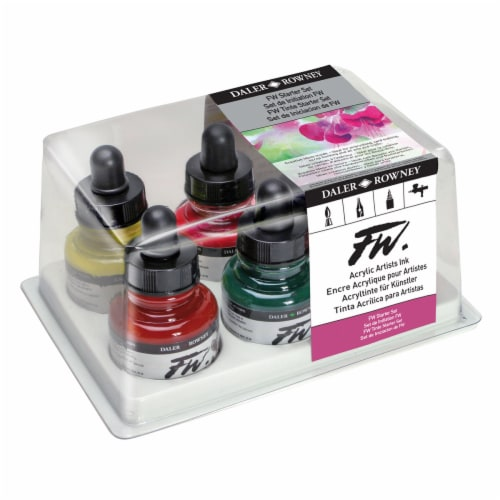 Daler-Rowney FW Acrylic Artists Ink Starter Set Perspective: front