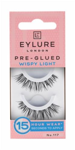 Eylure Pre-Glued Wispy Light 117 False Eyelashes Perspective: front