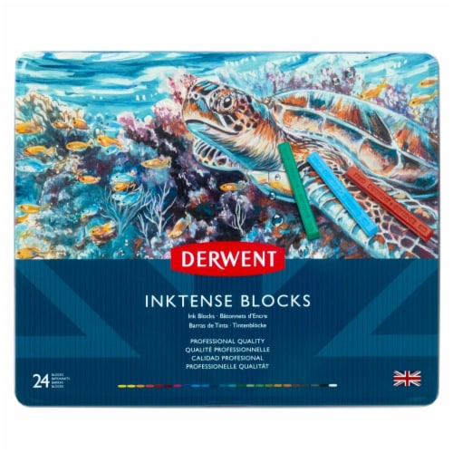 Derwent Inktense Professional Quality Ink Block Set - Assorted Perspective: front