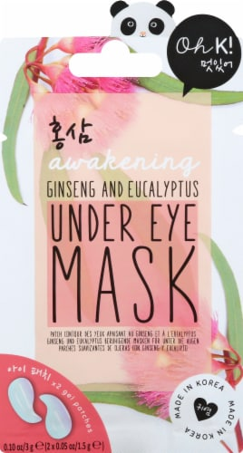 Oh K! Ginseng and Eucalyptus Under Eye Mask Perspective: front