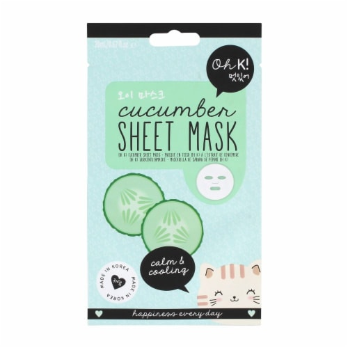 Oh K! Cucumber Sheet Mask Perspective: front