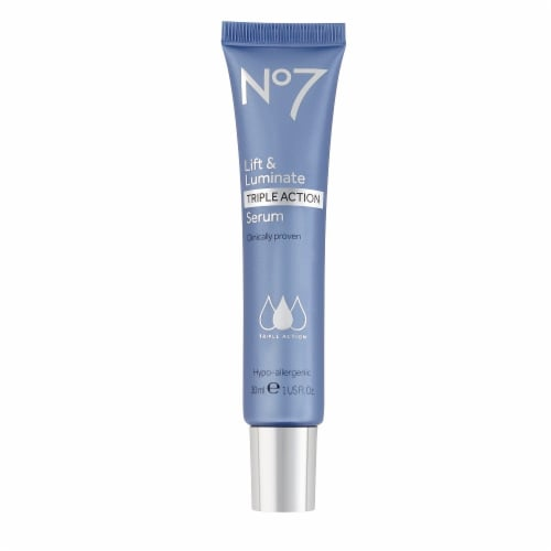 No7 Lift & Luminate Triple Action Serum Perspective: front