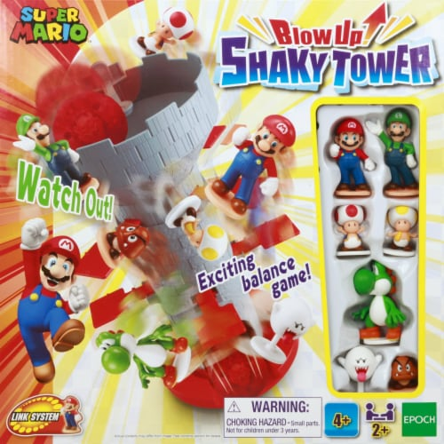 Epoch Super Mario Blow Up Shaky Tower Game Perspective: front