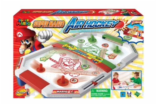 Epoch Super Mario Air Hockey Game Perspective: front