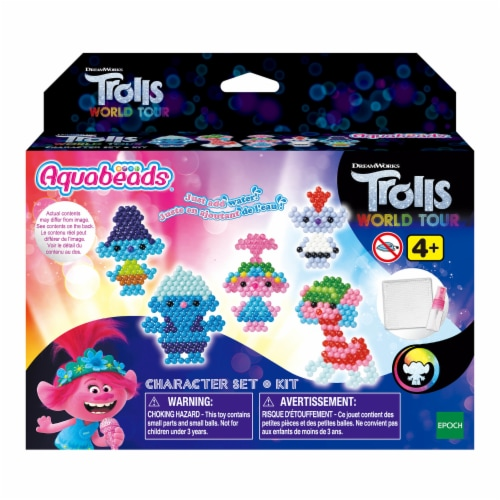 Aquabeads Trolls World Tour Character Set Perspective: front