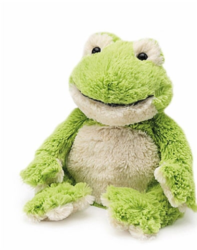 Warmies Frog Stuffed Animal Perspective: front