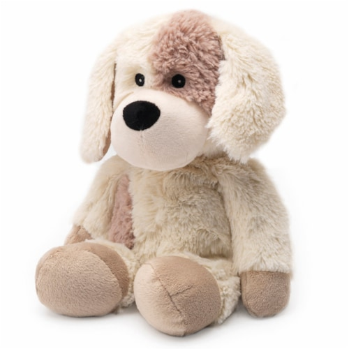 Warmies Puppy Stuffed Animal Perspective: front