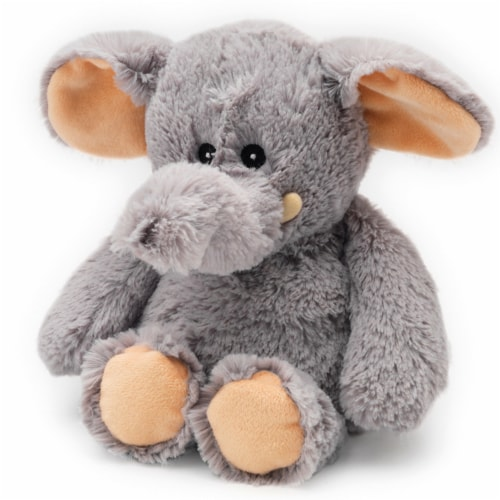 Warmies Gray Elephant Stuffed Animal Perspective: front
