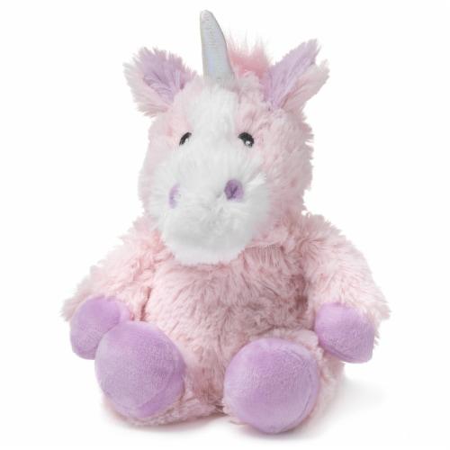 Warmies Unicorn Stuffed Animal - Pink Perspective: front