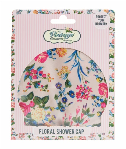 The Vintage Cosmetic Company Shower Cap - Floral Perspective: front
