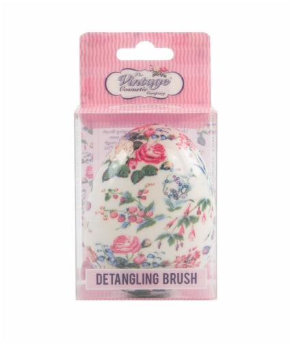 The Vintage Cosmetic Company Detangling Brush - Floral Perspective: front