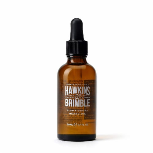 Hawkins & Brimble Elemi & Ginseng Beard Oil Perspective: front