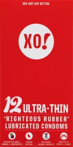 XO! Ultra-Thin Lubricated Condoms Perspective: front