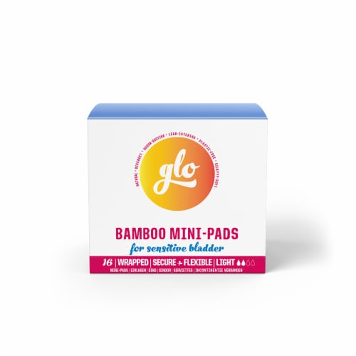 Glo Bamboo Mini-Pads for Sensitive Bladder Perspective: front