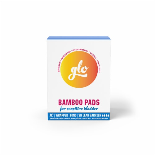Glo Bamboo Pads for Sensitve Bladder Perspective: front
