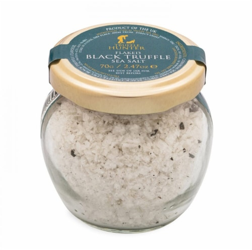 Truffle Hunter  Flaked Black Truffle Sea Salt Perspective: front