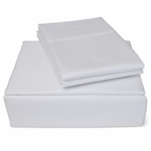 Clean Zzz's Antimicrobial Sheet Set - White Perspective: front