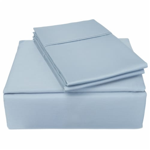 Clean Zzz's Antimicrobial Sheet Set - Blue Perspective: front