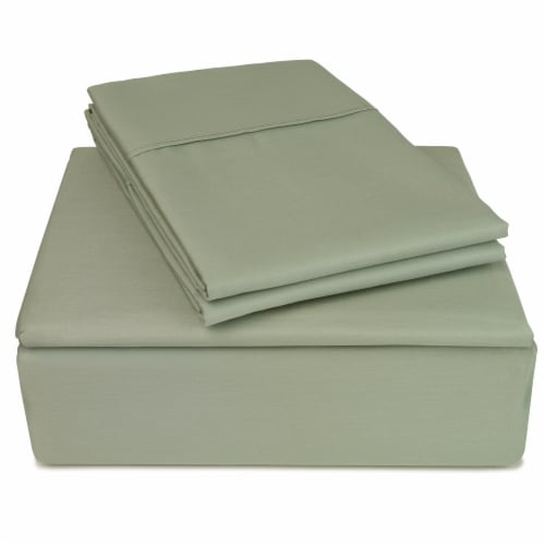 Clean Zzz's Antimicrobial Sheet Set - Green Perspective: front