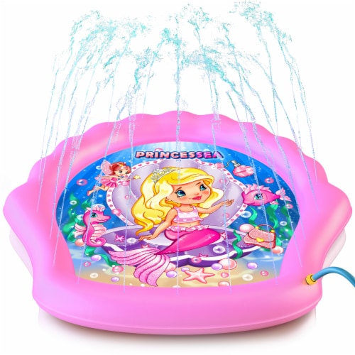Princessea Splash Pad for Girls - Pink Perspective: front