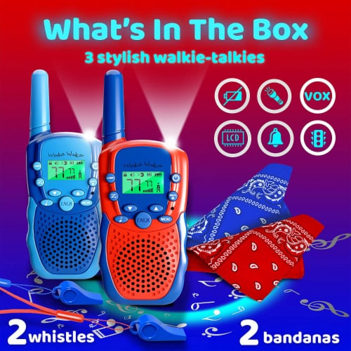Princessea Walkie Talkies for Boys - Red/Blue Perspective: front