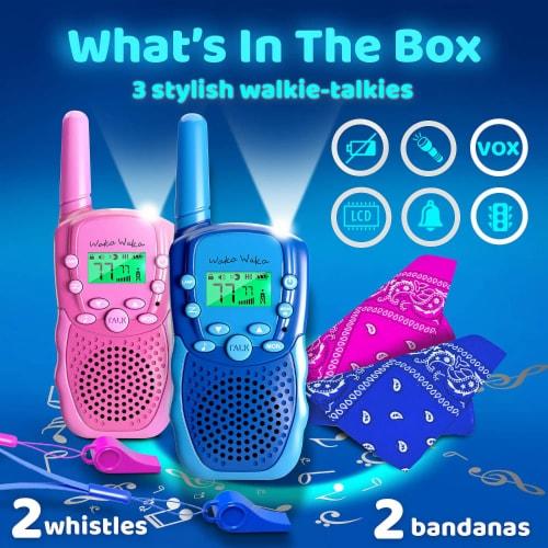 Princessea Unisex Walkie Talkies - Pink/Blue Perspective: front