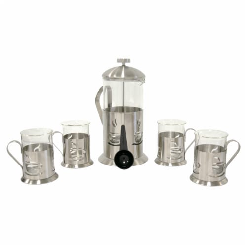 BergHOFF Stainless Steel French Press Set Perspective: front