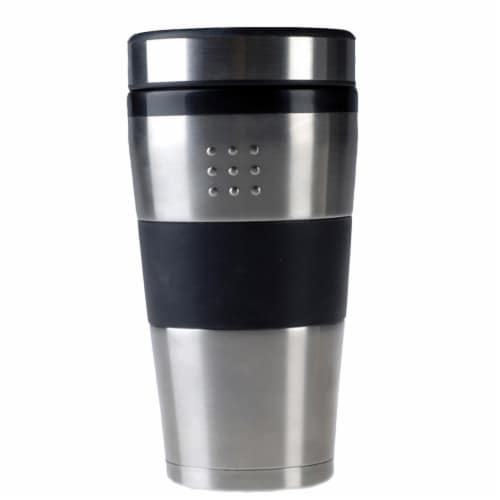 BergHOFF Orion Travel Mug - Stainless Steel / Black Perspective: front
