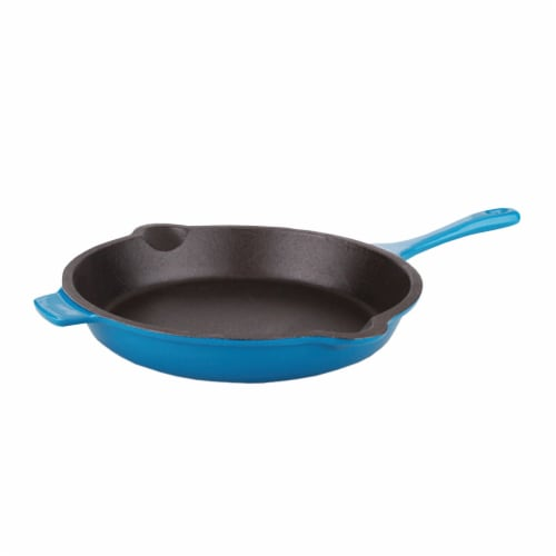 BergHOFF Neo Cast Iron Fry Pan - Blue Perspective: front