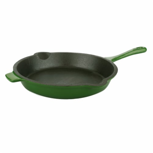 BergHOFF Neo Cast Iron Fry Pan - Green Perspective: front