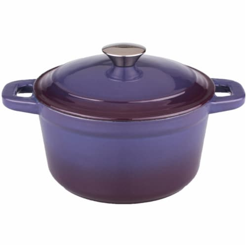 BergHOFF Neo Cast Iron Round Dutch Oven - Purple Perspective: front