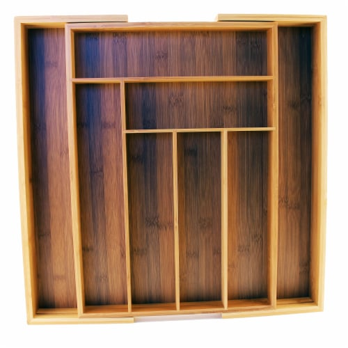 BergHOFF Cook & Co. Bamboo 8-Slot Expanding Flatware Organizer Perspective: front