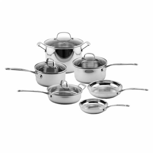 BergHOFF Stainless Steel Copper Clad Core Cookware Set Perspective: front